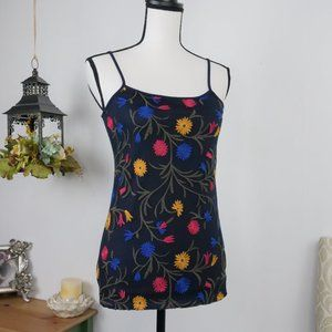 Ann Taylor Tank Top Floral Mesh Front XS NWT